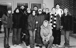The group of students from Samara with their teachers and hosts