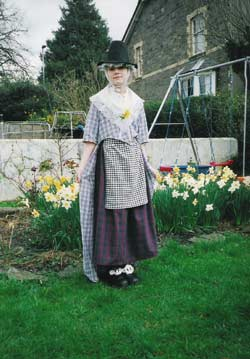 Emily Wright dressed in the traditional Welsh costume (Abergavenny, Wales)
