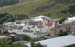 The new Scottish Parliament building at Holyrood, formally opened on Saturday 9 October 2004.