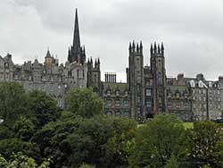 The home up to mid-2004 of the Scottish Parliament was New College, Old Town, Edinburgh.