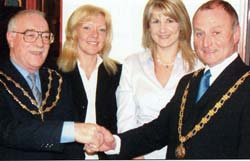 Anne Pitt (third from the left) with Frodsham's Mayor