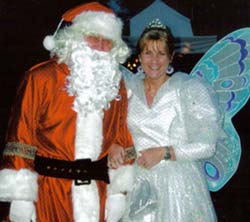 Anne Pitt as a Fairy at Frodsham, Christmas 2006