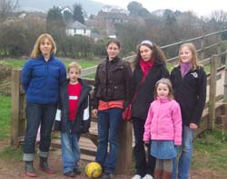 left-right: Rachel (David's wife), Max, French girls Amelie and Julie, Milly and Eleanor